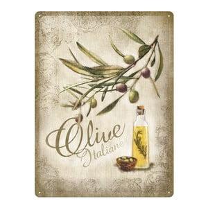 Retro plechová cedule Olive, 30x40 cm