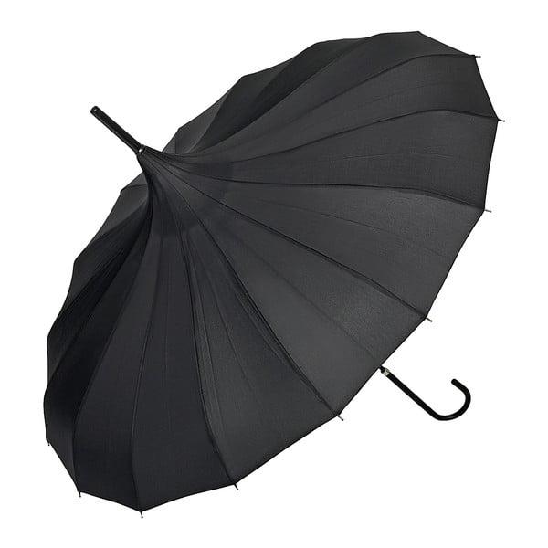 Czarny parasol Von Lilienfeld Pagoda Fabienne, ø 90 cm