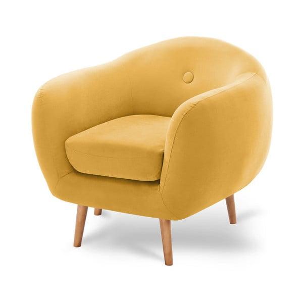 Tmavě žluté křeslo Scandi by Stella Cadente Maison Bella