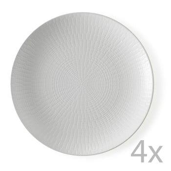 Set 4 farfurii desert Brandani Granaglie Blanc, ⌀ 21 cm de la Brandani