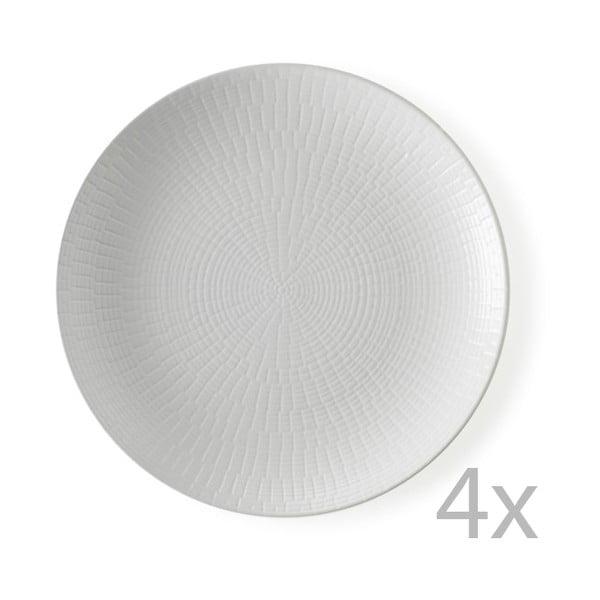 Sada 4 dezertních talířů Granaglie Blanc, 21 cm