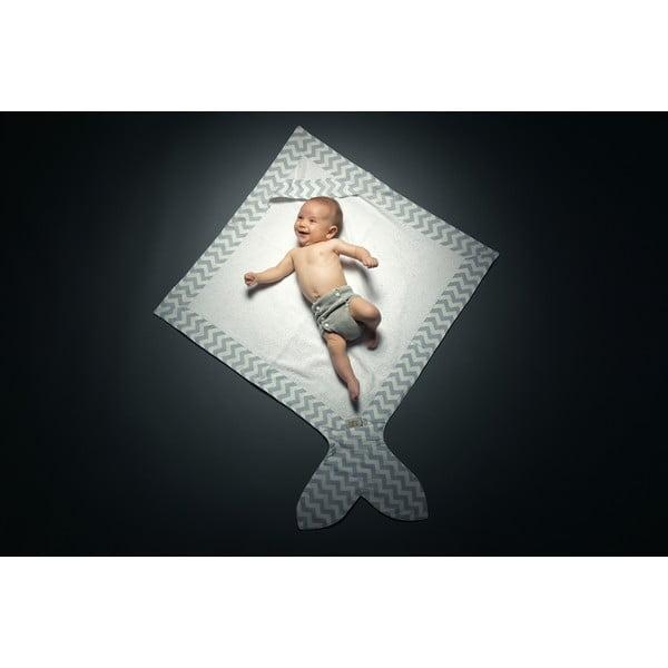 Dětský ručník Baby Bites Fish Blue, 80x 80 cm