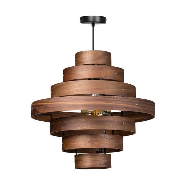 Dřevěné závěsné svítidlo ETH Walnut Ovalis