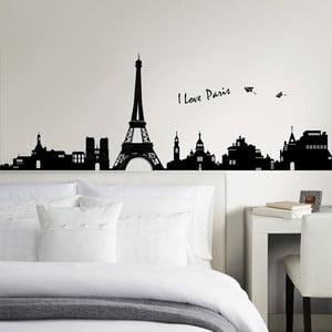 Samolepka na stěnu I Love Paris, 60x90 cm