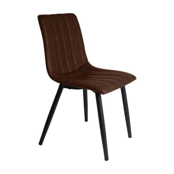 Tmavě hnědá jídelní židle Leitmotiv Raw