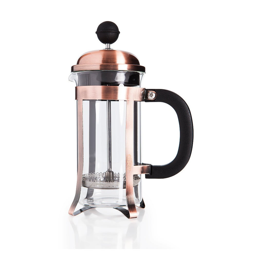 Tmavě měděný french press Tasev Watson 350 ml