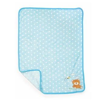 Pătură pentru copii Legler Bear, 100 x 80 cm, albastru imagine