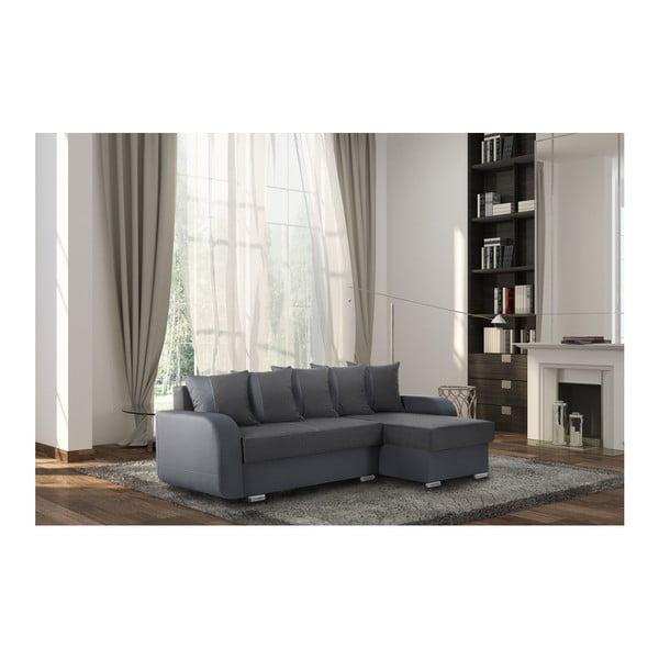 Antracitová sedačka Interieur De Famille Paris Destin, pravý roh
