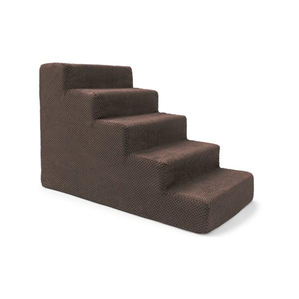 Hnědé schody pro psy a kočky Marendog Stairs, 40 x 75 x 50 cm