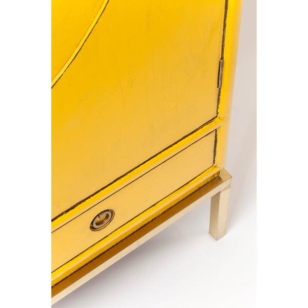 Žlutá skříň Kare Design Disk