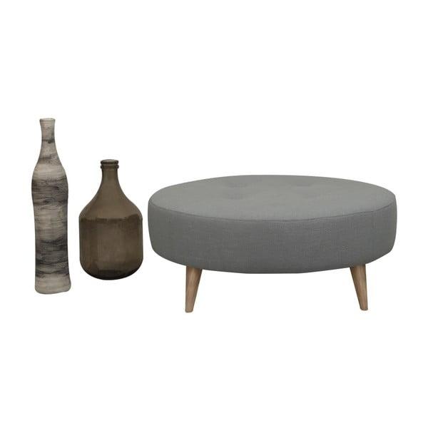 Šedý puf/odkládací stolek Helga Interiors Nolan