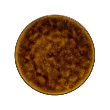 Platou din gresie ceramică Costa Nova Roda, ⌀ 22 cm, maro poza