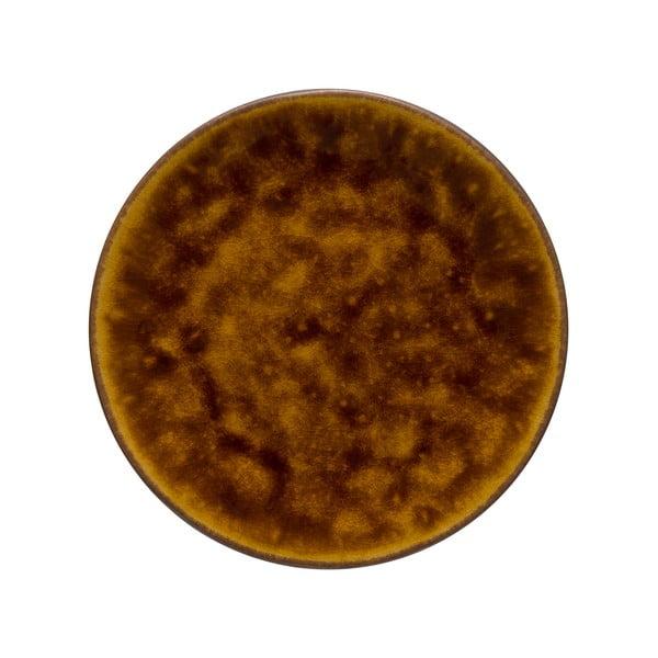 Hnedý kameninový podnos Costa Nova Roda, ⌀ 22 cm