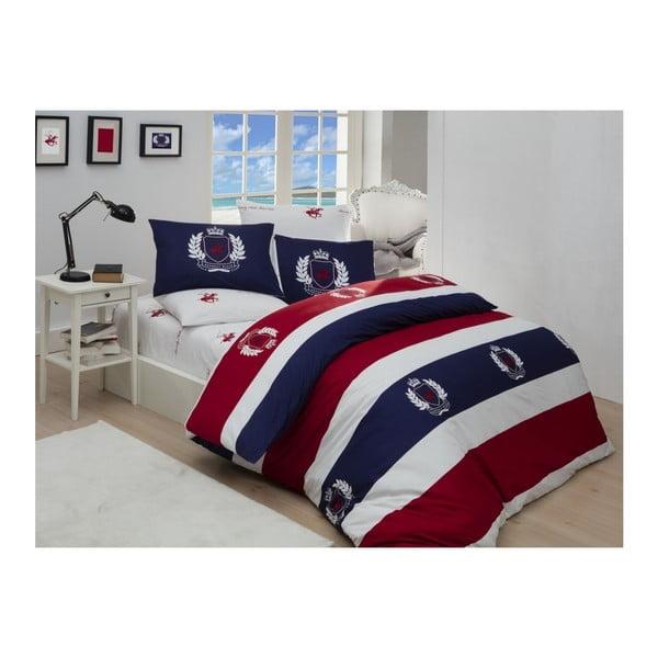 Lenjerie de pat cu cearșaf Beverly Hills Polo Club Cabot, 160 x 220 cm