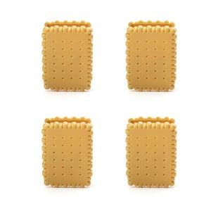Set 4 clame pentru pungi Kikkerland Biscuit