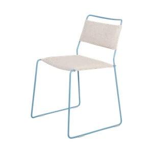 Bílá židle s modrou konstrukcí OK Design One Wire