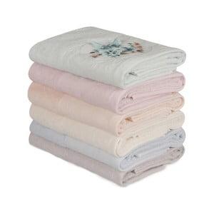Sada 6 bavlněných ručníků Daireli Lunida, 50 x 90 cm