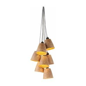 Závěsné svítidlo z dřevěné drti pro 7 žárovek Good&Mojo Sequoia