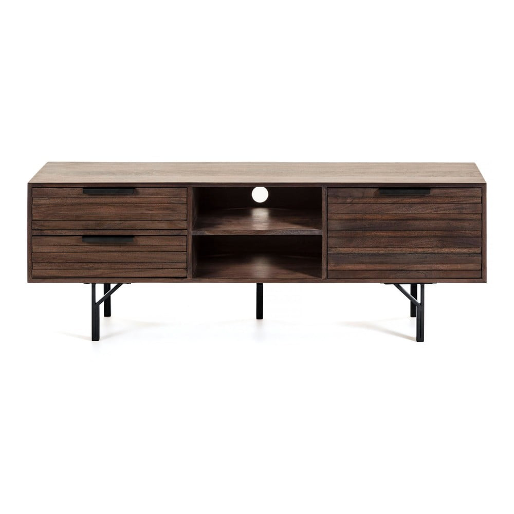 Tmavě hnědý TV stolek La Forma Atalia, 160 x 57 cm