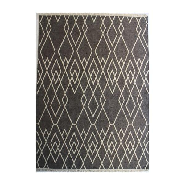 Šedý vlněný koberec Linie Design Omo,140x200 cm