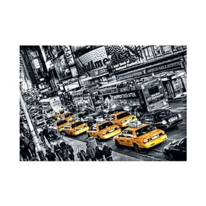 Osmidílná fototapeta Žluté taxi, 366 x 254 cm