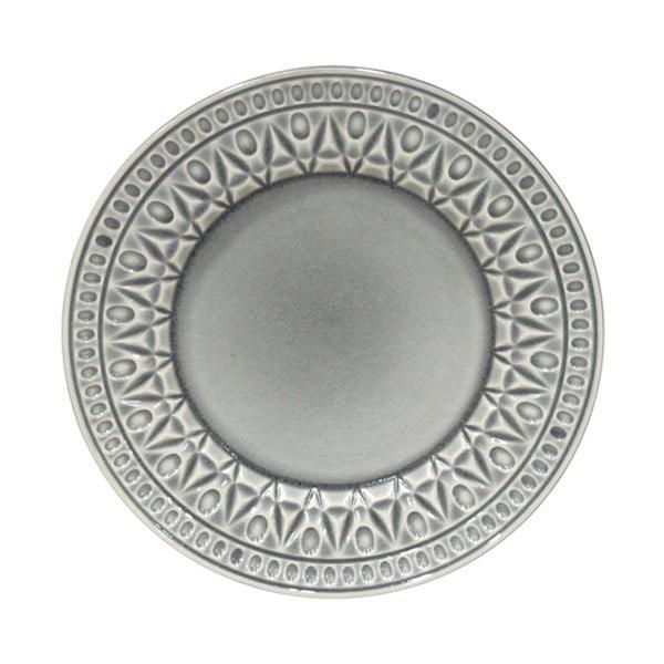 Šedý kameninový dezertní talíř Costa Nova Cristal, ⌀ 22 cm