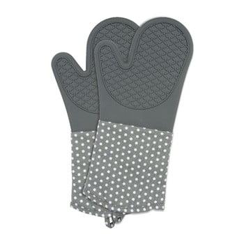 Set 2 mănuși din silicon bucătărie Wenko Oven Grey, gri imagine