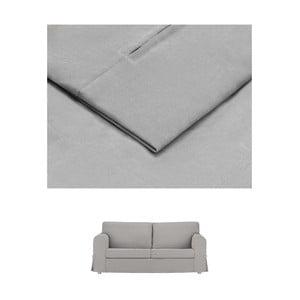 Světle šedý povlak na rozkládací trojmístnou pohovku THE CLASSIC LIVING Morgane