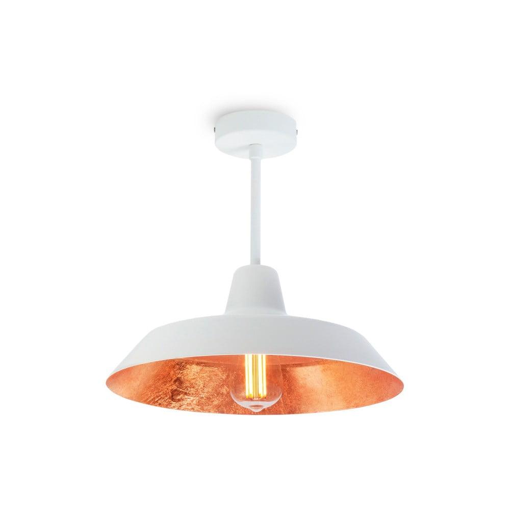 Fotografie Stropní svítidlo v bílé a měděné barvě Bulb Attack Cinco Basic