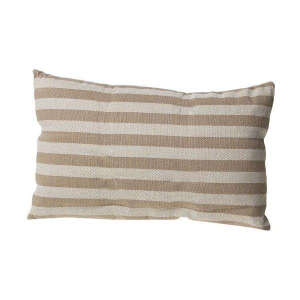 Polštářek Cosas de Casa Stripes, 30x50 cm, béžový