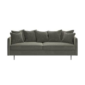 Canapea cu tapițerie din catifea Ghado Esme, 214 cm, bej
