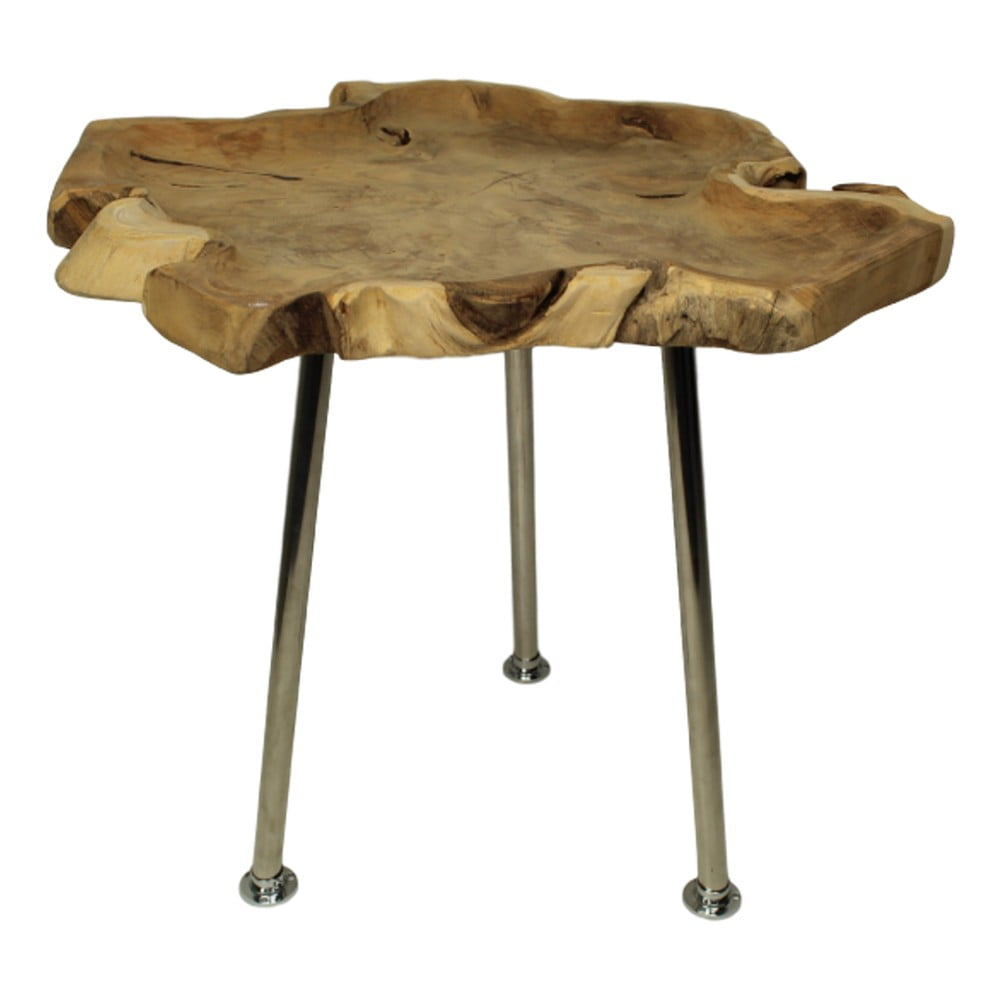 Odkládací stolek z teakového dřeva HSM Collection Fruitbowl, ⌀ 45 cm
