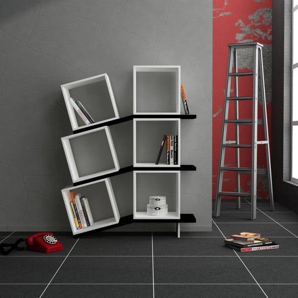 Knihovna Balance, bílá/černá