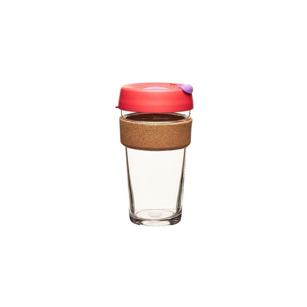 Cestovní hrnek s víčkem KeepCup Brew Cork Edition Sumac, 454 ml