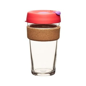 Cană de voiaj  KeepCup Brew Cork Edition Sumac, 454 ml