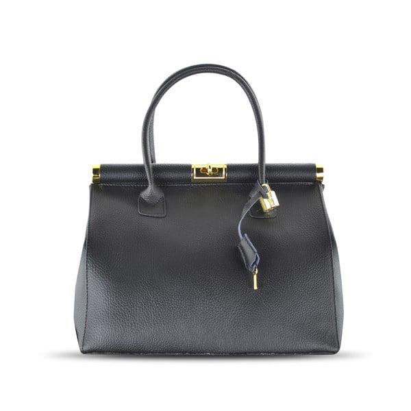 Kožená kabelka Carla, černá