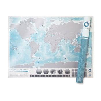 Hartă de răzuit Scratch Map Oceans Edition de la Luckies of London