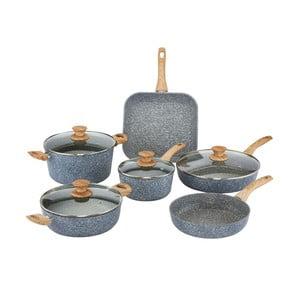 Set 10 piese, vase cu mânere din lemn și capace Bisetti Pierre Gourmet