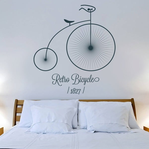 Samolepka na zeď Retro kolo, 120x90 cm