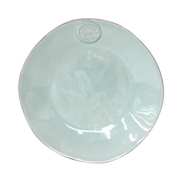 Farfurie din gresie ceramică pentru desert Costa Nova, ⌀ 21 cm, turcoaz