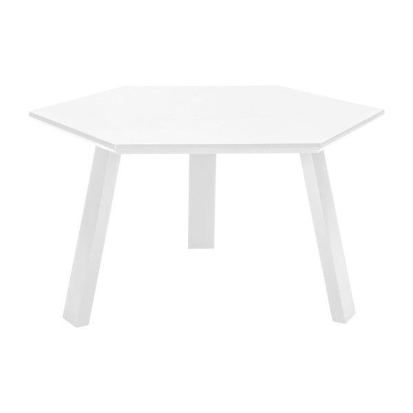 Konferenční stolek Hexagon Pearl White, 70x37x70 cm