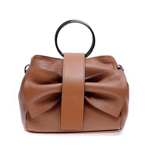 Hnědá kožená kabelka Roberta M Annabella