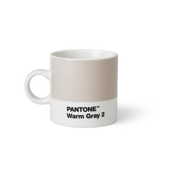 Svetlosivý hrnček Pantone Espresso, 120 ml