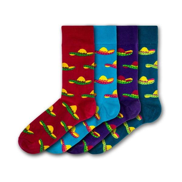 Sada 4 párů pánských ponožek Black&Parker London Sombrero, velikost 41 - 45
