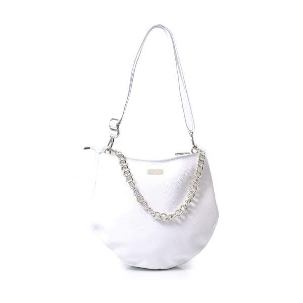 Kožená kabelka Melia, bílá