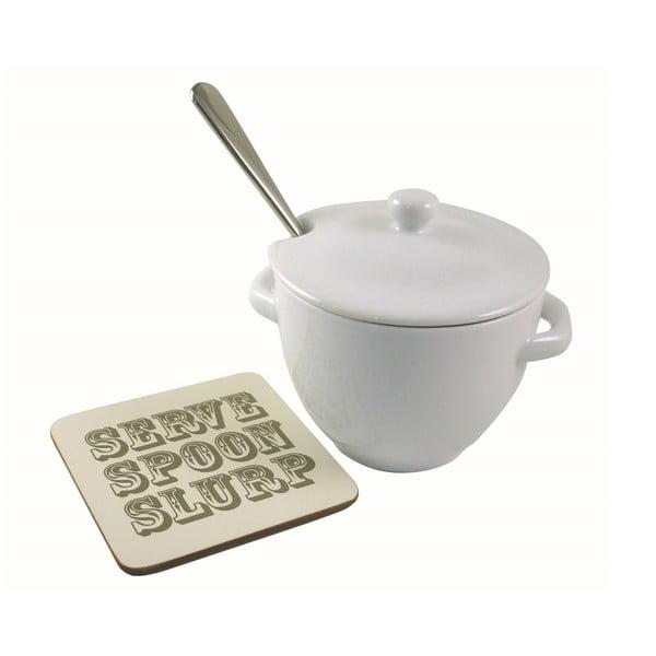 Terina na polévku s podložkou a naběračkou Jamie Oliver