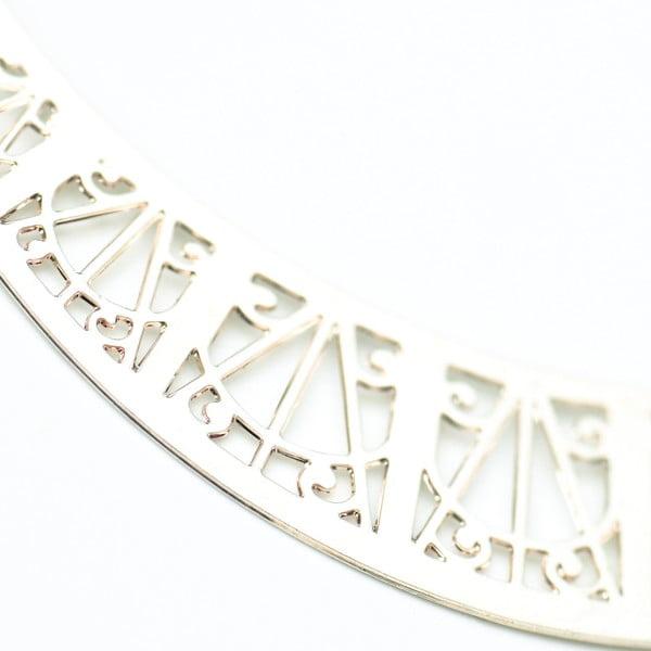 Náušnice Arch Silver, 6 cm