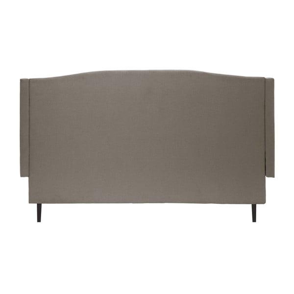 Šedá postel s černými nohami Vivonita Windsor,140x200cm