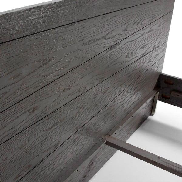 Tmavě šedá dvoulůžková postel v dubovém dekoru La Forma Zentosa, 140x190cm