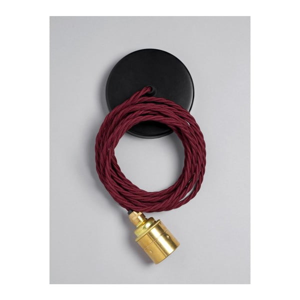 Závěsný kabel Brass Skirt Burgundy Black